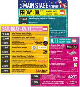 Schedule AFA 2013 Singapore mit BABYMETAL