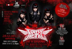 BABYMETAL live in Singapore, 28. Dezember 2013