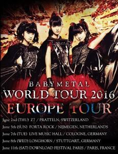 BABYMETAL EUROPE TOUR