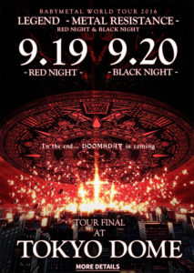 Poster Babymetal Red night - black night