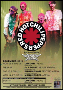 Babymetal, tour with Red Hot Chili Peppers