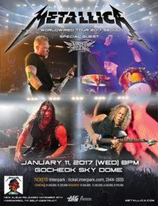 Poster Metallica, special guests: Babymetal