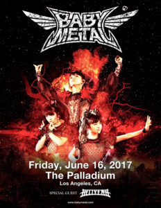 BABYMETAL im Hollywood Palladium @ Suchergebnisse Hollywood Palladium | Los Angeles | California | USA