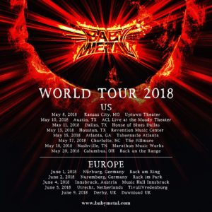 Poster Babymetal World Tour 2018