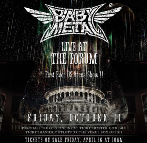 BABYMETAL Live In Los Angeles @ The Forum