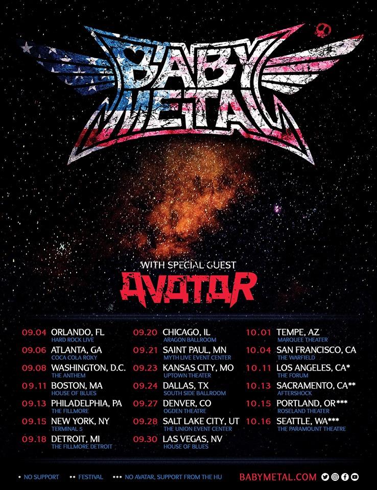 Babymetal US Tour 2019