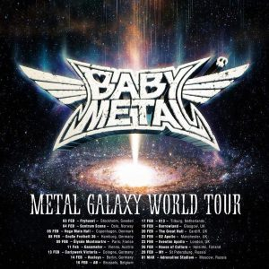 Poster BABYMETAL METAL GALAXY WORLD TOUR 2020